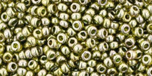 Toho Bulk Beads 11/0 Round #118 Gold Lustered Green Tea 250 gr