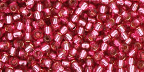 Toho Bulk Beads 11/0 #264 Silver Lined Mauve 250 gram Factory Pak