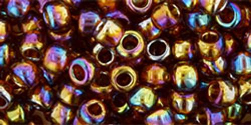 Toho Bead 6/0 Round #24 Transparent Rainbow Smoky Topaz 50 gram