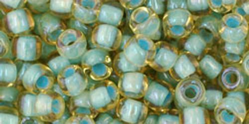 Toho Beads 6/0 Round #29 Rainbow Light Topaz Sea Foam Lined 50g