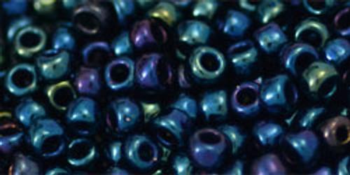 Toho Bulk Beads 6/0 Round #41 Metallic Nebula 250g Factory Pack