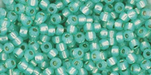 Toho Beads 11/0 Round Permanent Finish Silver Lined Milky Peridot 8g
