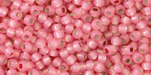 Toho Beads 11/0 Round Permanent Finish Silver Lined Milky Mauve 8g