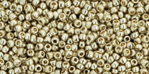 Toho Beads 15/0 Rounds #18 Permanent Finish Galvanized Aluminum 50g