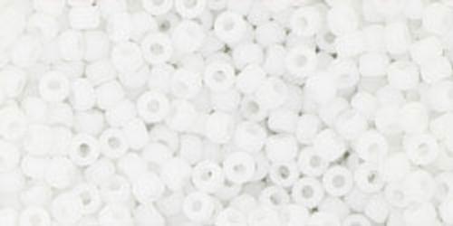 Toho Bulk Beads 11/0 Round #395 Opaque Frosted White 250 gram