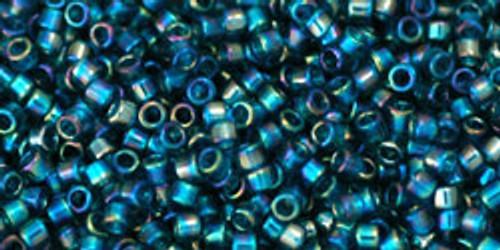 Toho Beads #1 Treasure #167BD Transparent Rainbow Teal 10 grams