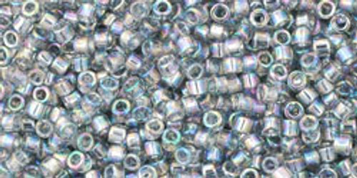 Toho Beads #1 Treasure #176 Transparent Rainbow Black Diamond 10g
