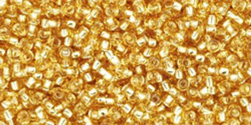 Toho Seed Beads 15/0 Round 'Silver Lined Medium Topaz' 8-9 gram tube