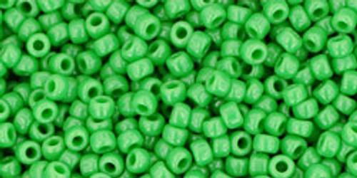 Toho Bulk Beads 11/0 Round #413 Opaque Mint Green 250 gram factory pack