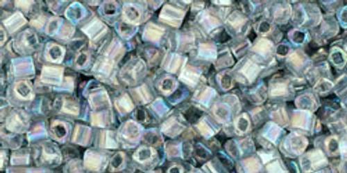 Toho Seed Beads Cubes 1.5mm Transparent Rainbow Black Diamond