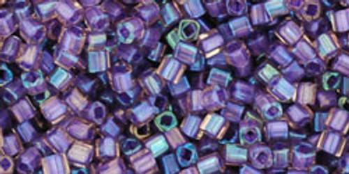 Toho Seed Bead Cube 1.5mm In-Color Rainbow Rosaline/Opaque Purple