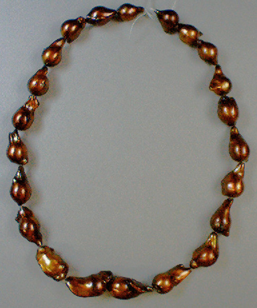 Enhanced Potato Pearls #5 11-12 mm Dark Copper AA++
