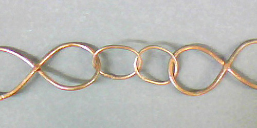 Copper Chain #10 10-20x50mm Circle & Infinity Links Per Foot