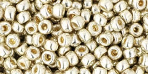 Toho Seed Beads 8/0 Rounds Permanent Finish Galvanized Aluminum 8 gram