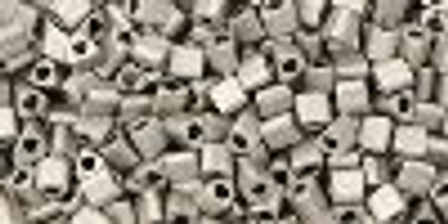 TOHO Seed Beads Triangles 11/0 Metallic-Silver-Frosted Antique Silver