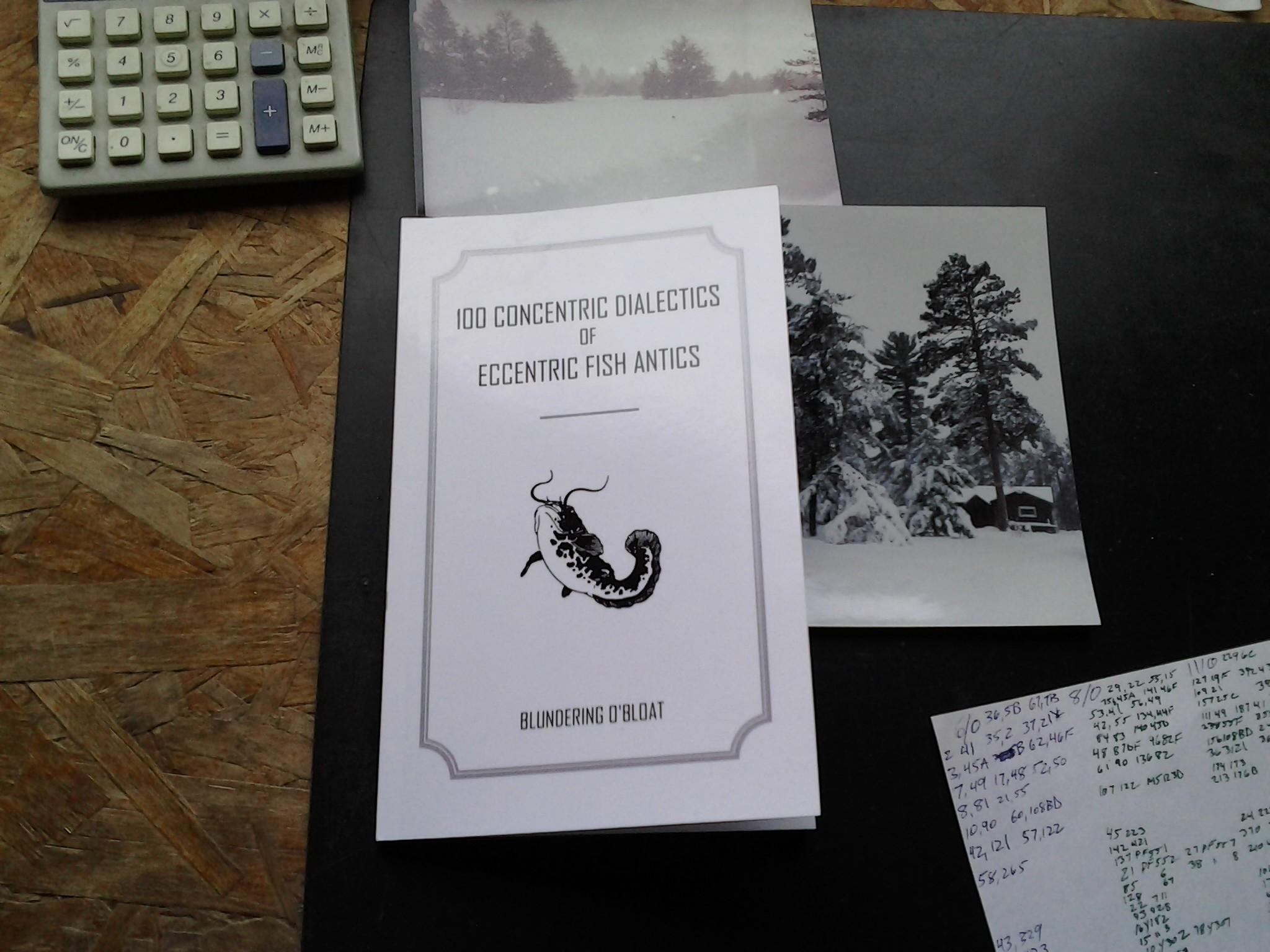 Namazu, O'Bloat and some friendly, resident denizens have foamed up their first book that addresses several ephemeral fish idioms. A fish eye view of all we do from a satellite dish in the weeds, a family @Tsu, where all these fish grew into bling slingin