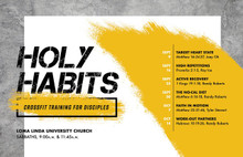 Holy Habits  (September 9 - October 14, 2017)
