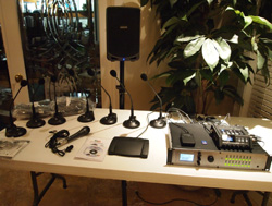Picture of Start-Stop GoldenEar Digital 4-Channel Council/Boardroom Conference Recording and Transcription System with Wireless PA