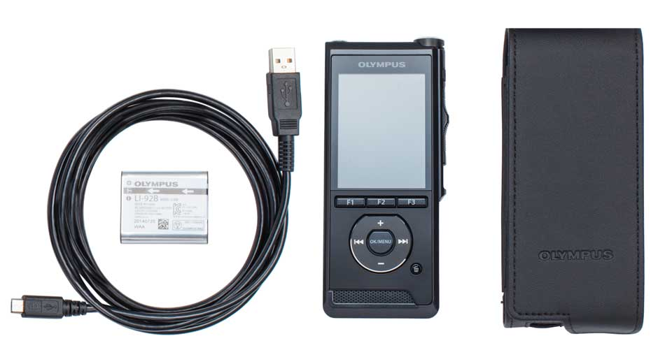 The Olympus DS-9000 complete package contents.