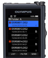 Olympus DS-9500 Complete workflow integration in real time with wifi capability.