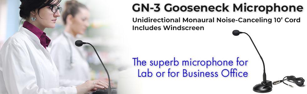 GN-3 gooseneck microphones
