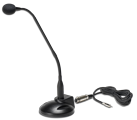GN-3 or GN-USB Gooseneck Desktop Microphone