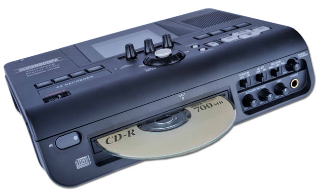 Showing angled view of the PSD450mkll Superscope Digital Audio Recorder
