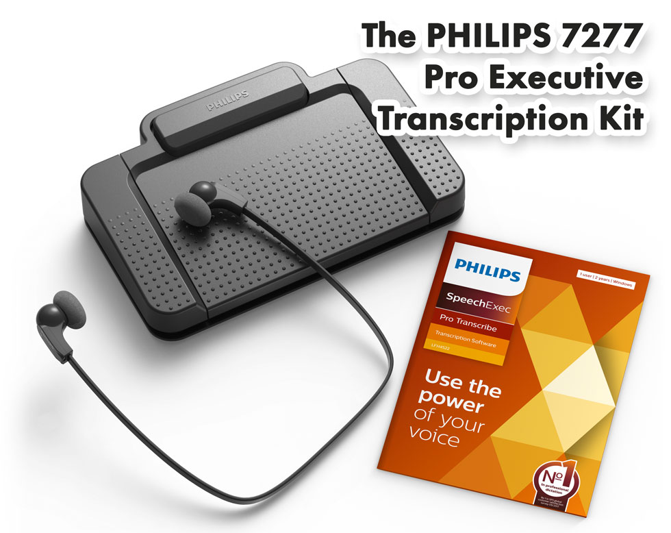 Philips 7277 Pro Executive Transcription Kit Model #37503