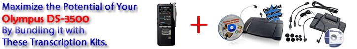 SAVE and Bundle your DS-7000 with these these Transcription Kits