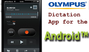 Olympus Dictation App for iOS and Android