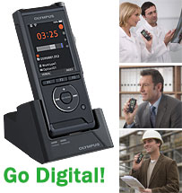Professional Digital Recorders like the New Olympus DS-9500