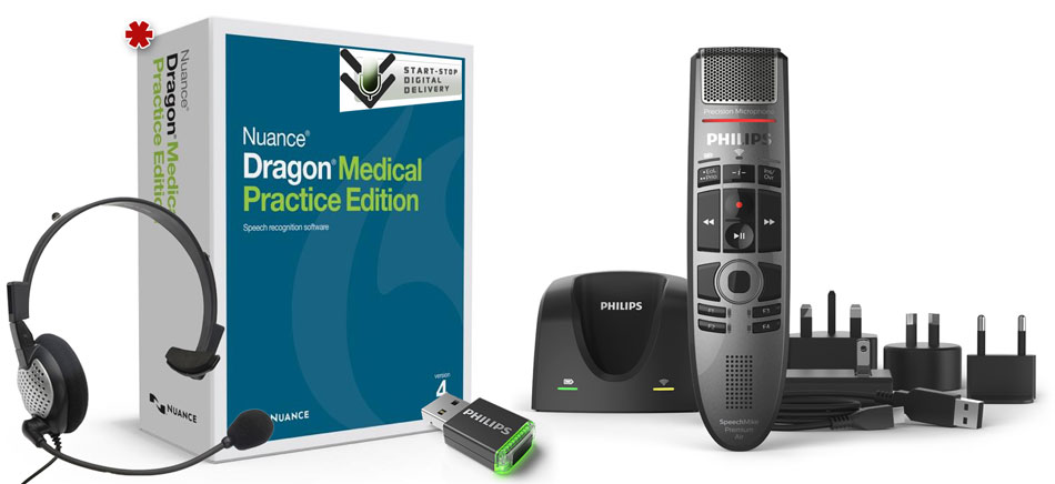Dragon Medical Air Ultimate Combo Kit complete package contents.