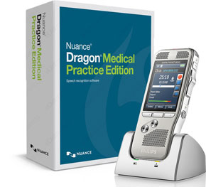 Dragon Medical Practice Edition 4 with Philips Digital Pocket Memo DPM8000