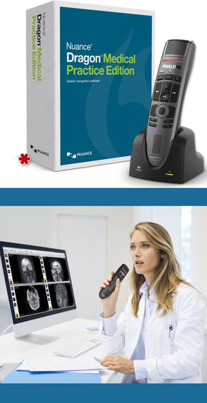 Dragon Medical Practice Edition 4 with Philips SpeechMike Air