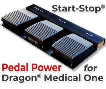 Start-Stop Pedal Power for Dragon Medical One at work