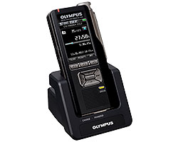 Olympus DS-7000 in docking station.