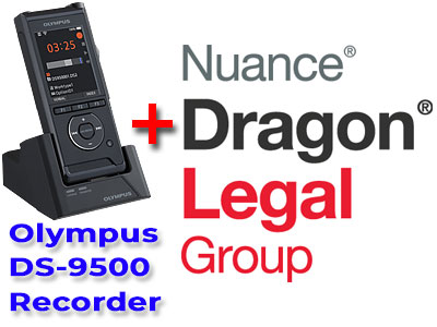 Legal Bundle: Olympus DS-9500 plus Nuance Dragon Legal Group