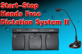 Start-Stop Hands-Free Dictation System II