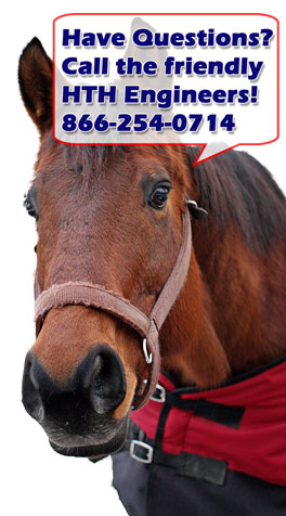 Horse telling you to call HTH if you have questions