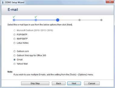 ODMS7 Email setup