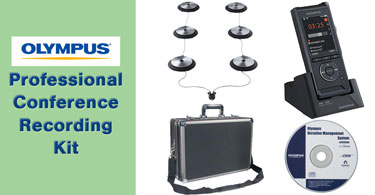 Professional Olympus Conference Recording Kit featuring the Olympus DS-9500