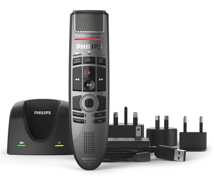 Philips SpeechMike Premium Air Wireless SMP4000 Dictation Microphone