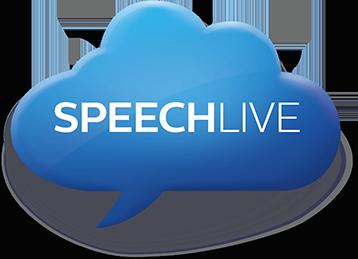 Philips SpeechLive Cloud Logo of Blue Cloud bubble.