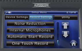 Touch Screen on the PMR61 Superscope Digital Audio Recorder