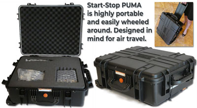StartStop PUMA carry case makes it highly portable
