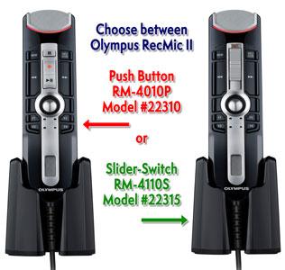 Olympus RecMic II Dictation Microphones