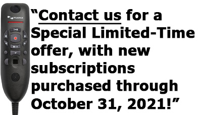 Ask us about new subscription special going on now through October 31, 2021