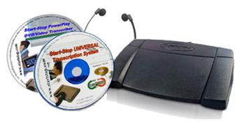 Start-Stop UNIVERSAL Transcription System and PowerPlay DVD/Video Transcriber