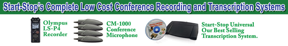 Start-Stop Low-Cost Conference Recording Systems
