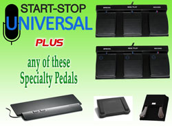 Specialty Pedal Bundles for Start-Stop Universal Audio Transcription